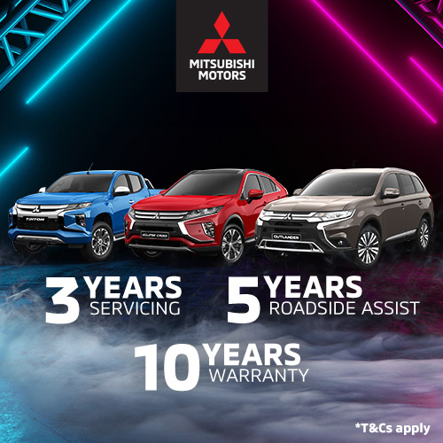Free 3 Year Servicing on all our Mitsubishi Vehicles